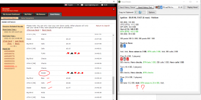 I called the river bet from the BB - but PT4 says I folded.PNG