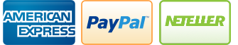American Express, PayPal, MoneyBookers