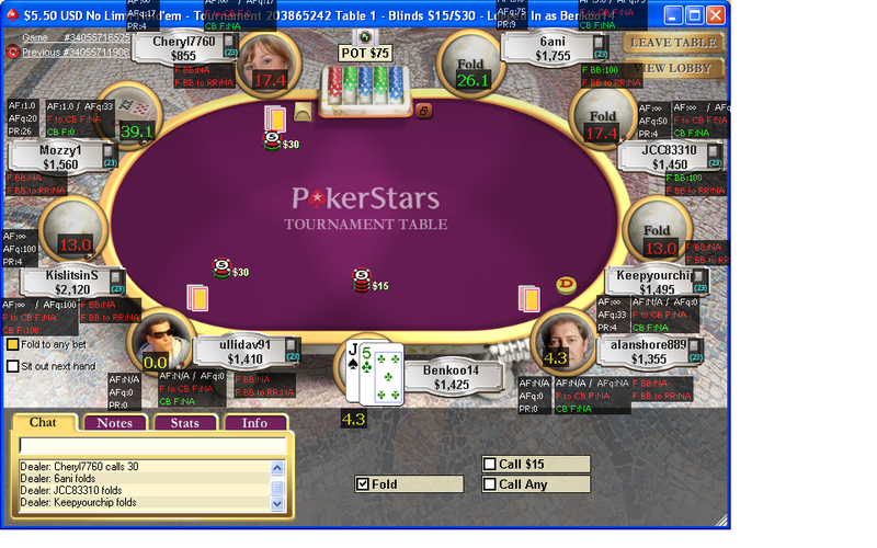 Preview of PS Sit and Go's 9pl. at table