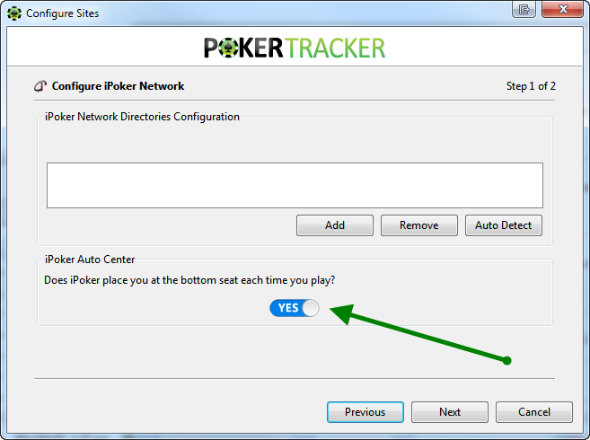 Auto Center Option iPoker Network