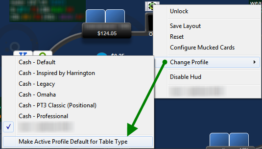 Make HUD Profile Default