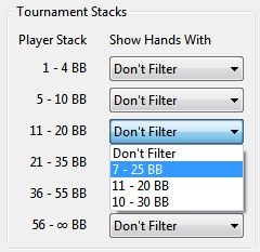 Tournament Stack Size Filter PT4