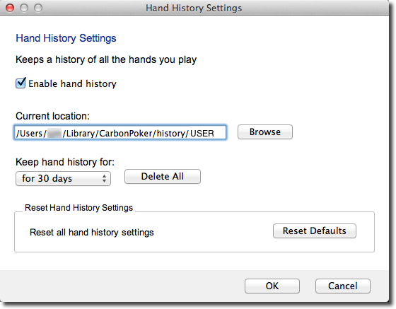 Merge Hand History Settings