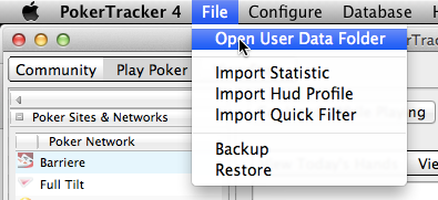 Open User Data Folder