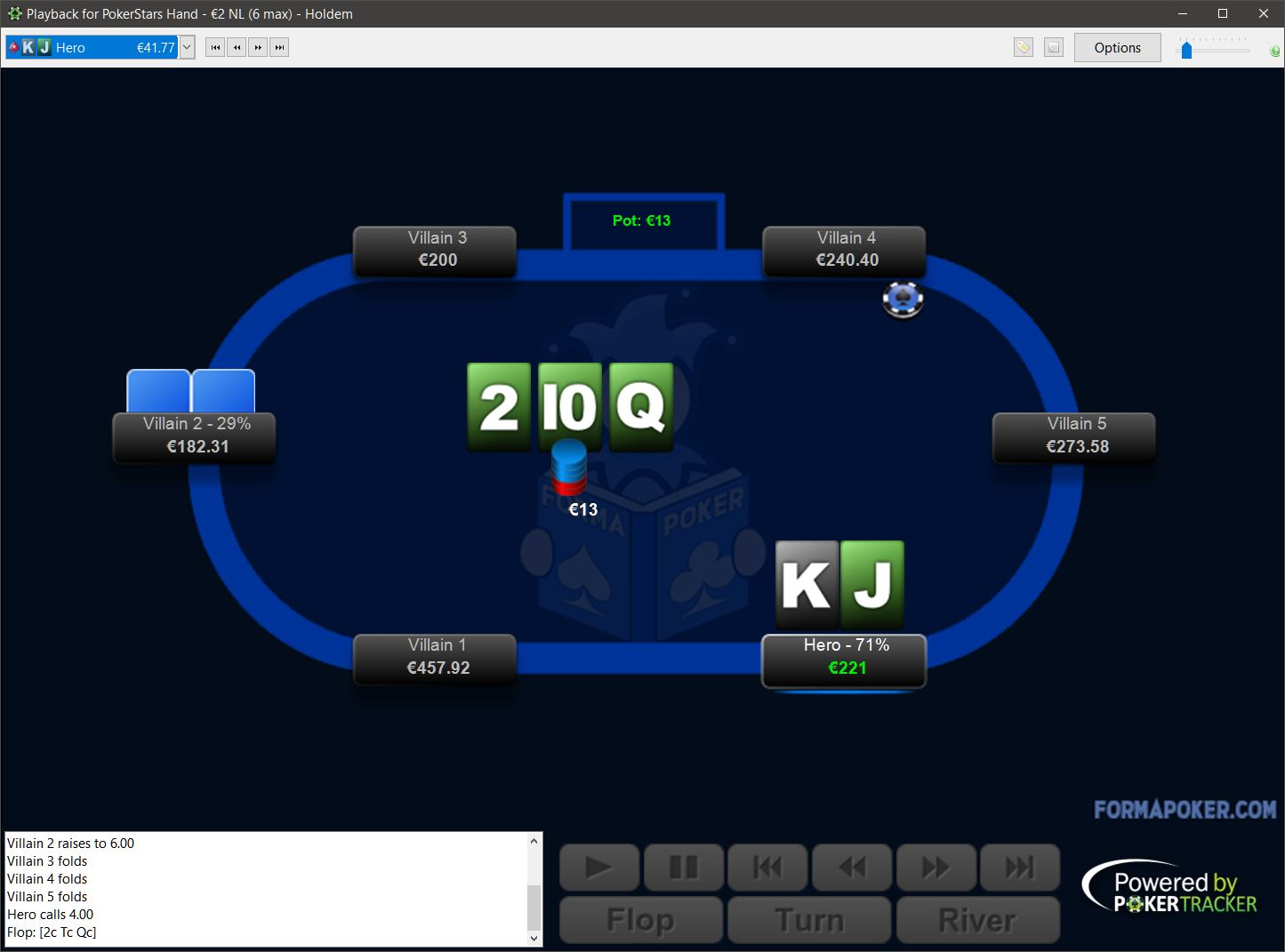 Preview of FormaPoker Black Replayer