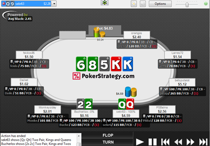Preview of Official PokerStrategy.com Grey Replayer Theme