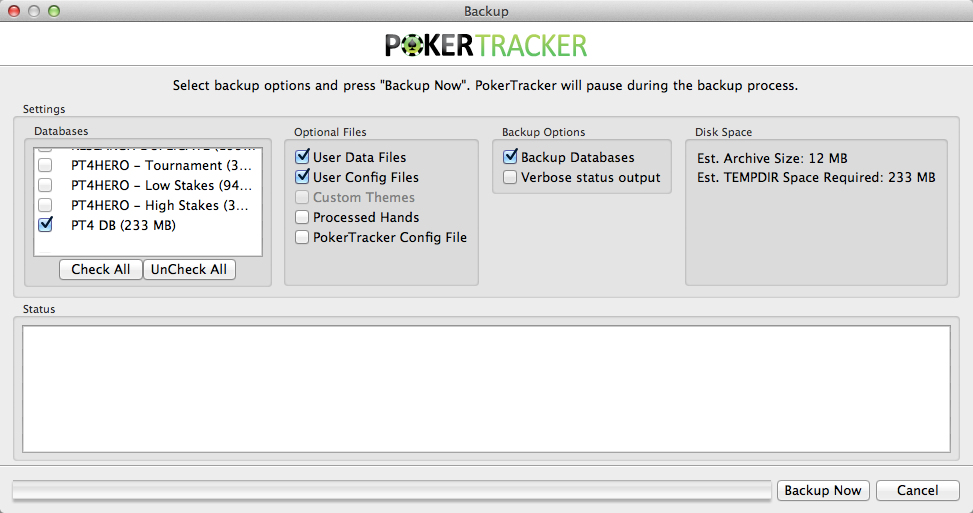 Poker Tracker 4 Backup