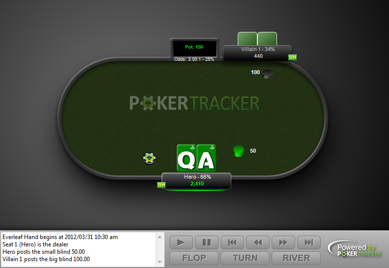Preview of PokerTracker4 North-South Heads-Up Theme Modification