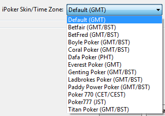 iPoker Time Zone