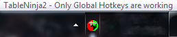 Icon showing only global hotkeys are working