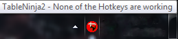 Icon showing none of the hotkeys are working